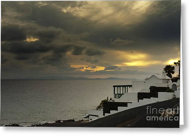 Cloudy Sunset Greeting Card by Roberto Bettacchi