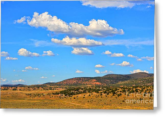Cloudy Wyoming Sky Greeting Card