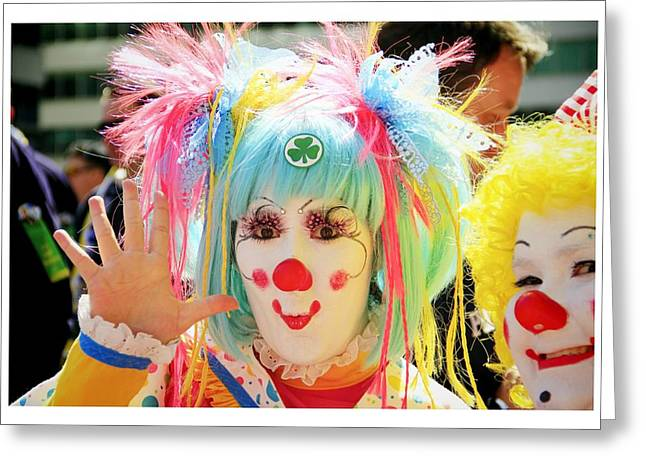 Greeting Card featuring the photograph Cloverleaf Clown by Alice Gipson
