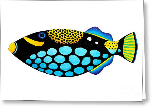 Clown Triggerfish  Greeting Card by Opas Chotiphantawanon