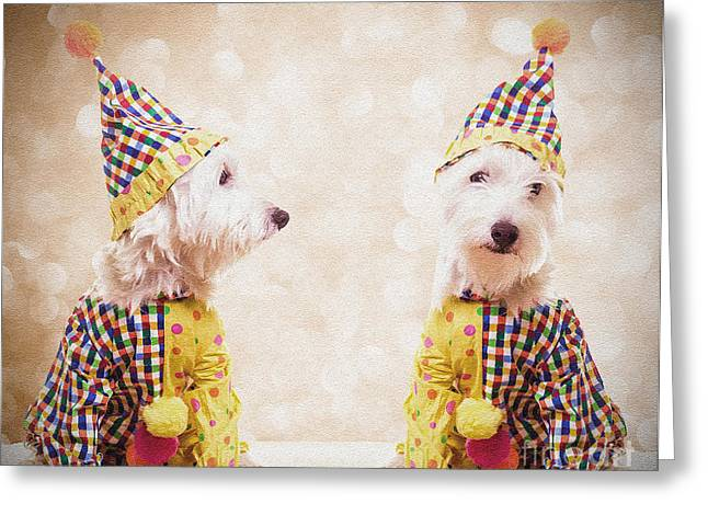 Clowning Around Greeting Card by Edward Fielding