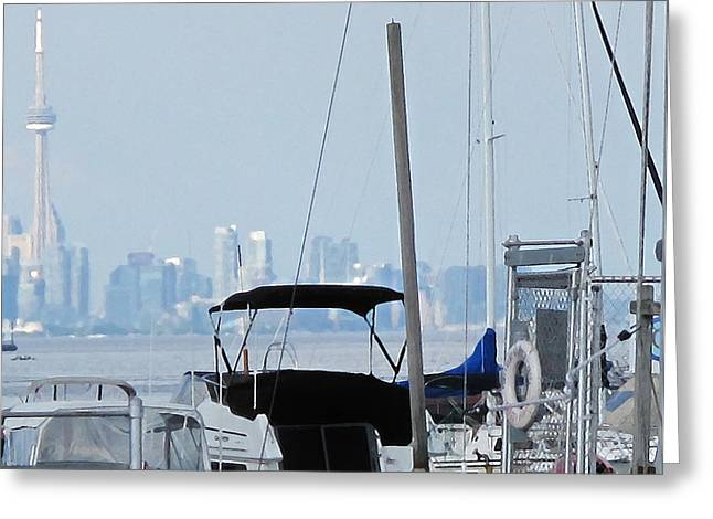 Cn Tower From Port Credit Greeting Card