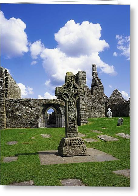 Co Offaly, Clonmacnoise Greeting Card by The Irish Image Collection