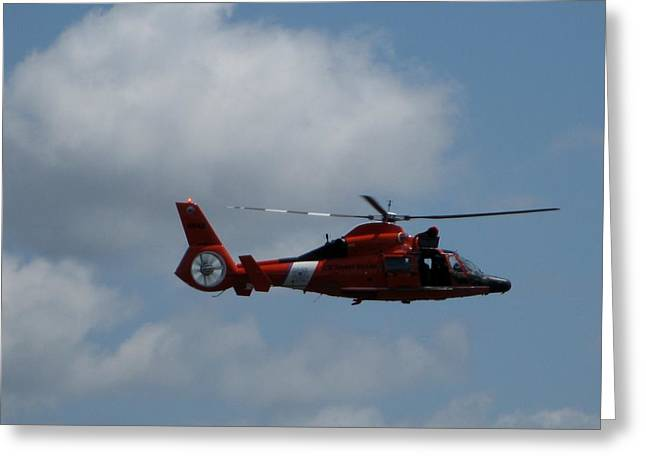 Coast Guard Rescue By Air Greeting Card