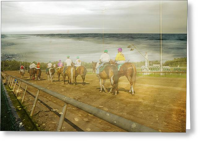 Coast Line Greeting Card by Betsy Knapp