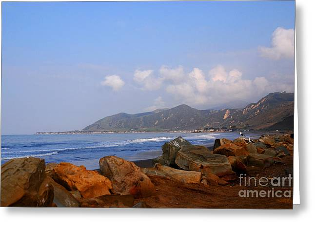 Coast Line California Greeting Card by Susanne Van Hulst