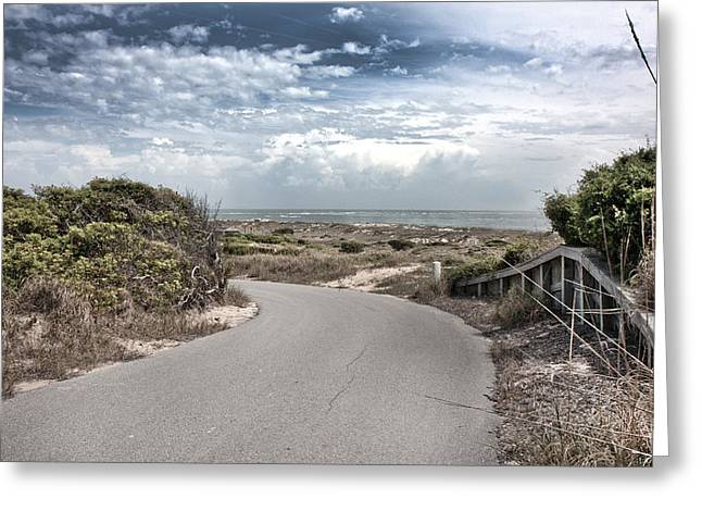 Coastal Bend Greeting Card by Betsy Knapp