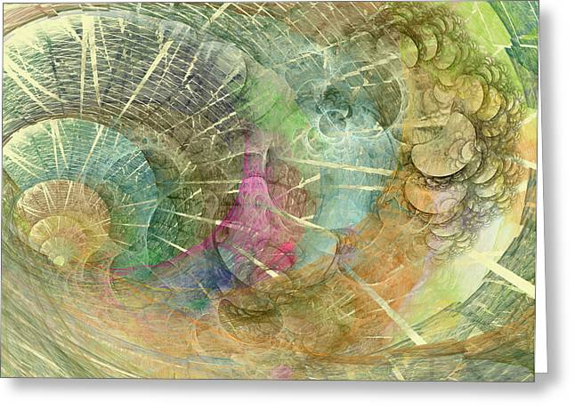 Coastal Cosine Gem  Greeting Card by Betsy Knapp