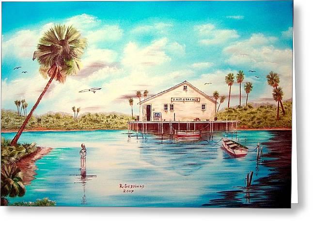 Coastal Glades Greeting Card by Riley Geddings