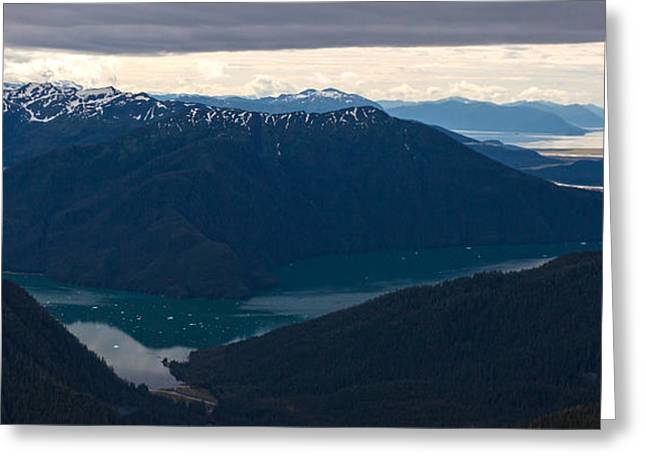 Coastal Range Fjords Greeting Card by Mike Reid