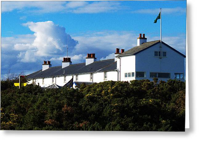 Coastguard Cottages Dunwich Heath Suffolk Greeting Card by Darren Burroughs