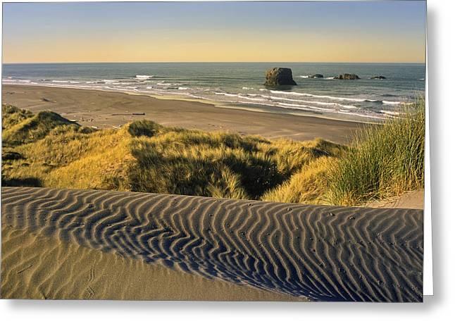 Coastline Pistol River Beach Oregon Greeting Card