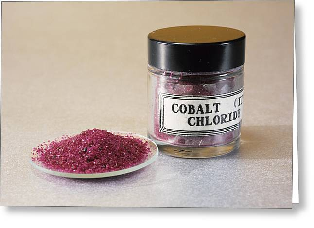 Cobalt Chloride Greeting Card by Andrew Lambert Photography