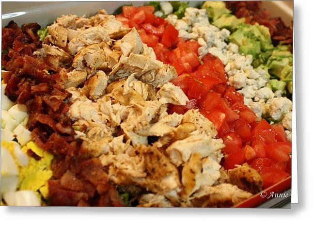 Cobb Salad Greeting Card by Anne Babineau