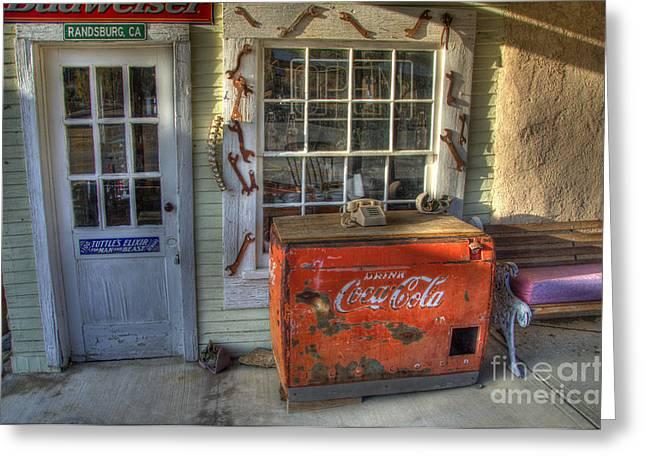 Coca Cola Cooler Randsburg Greeting Card by Bob Christopher