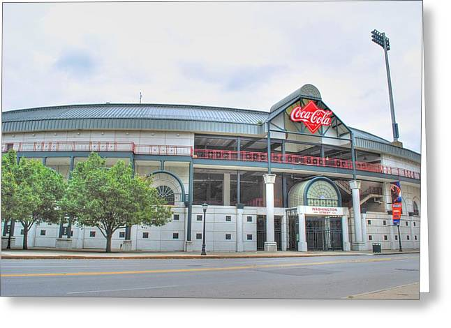 Greeting Card featuring the photograph Coca Cola Field  by Michael Frank Jr