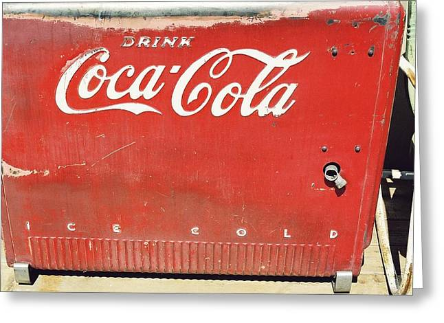 Coca Cola Greeting Card by Trent Mallett