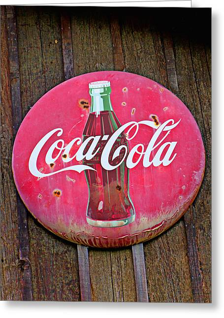 Coco Cola Sign Greeting Card
