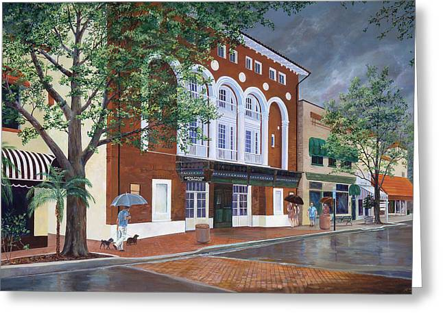 Cocoa Village Playhouse Greeting Card by AnnaJo Vahle