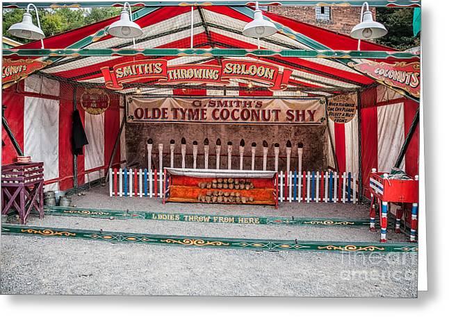 Coconut Shy Greeting Card