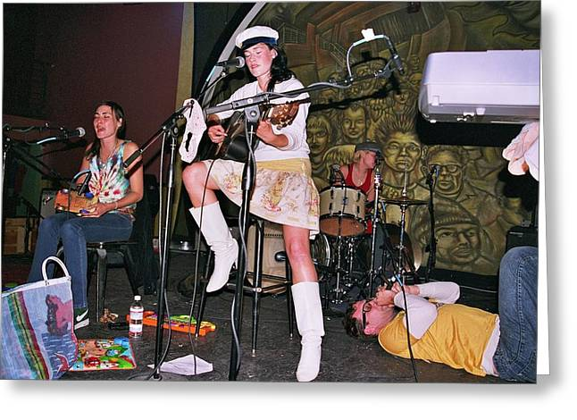 Cocorosie With Dave Sitek Greeting Card
