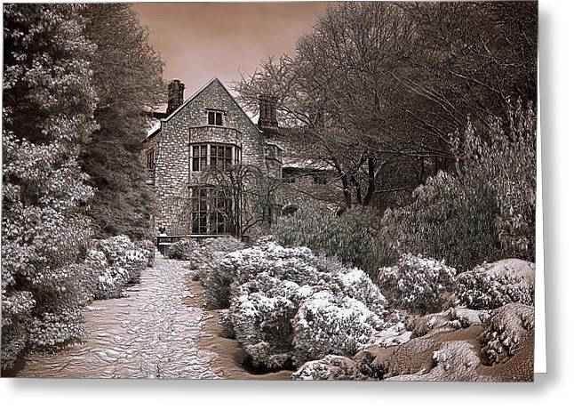 Coe Hall In Winter Greeting Card