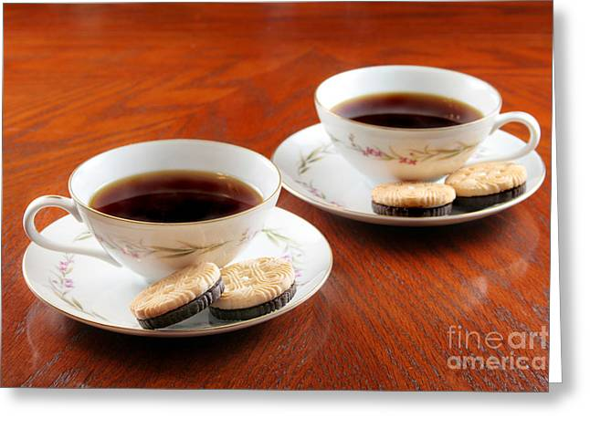 Coffee And Cookies Greeting Card by Darren Fisher