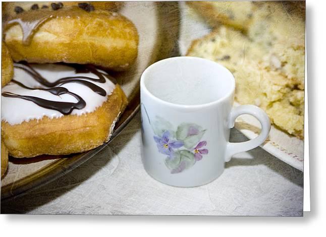 Coffee Break Greeting Card by Mary Timman