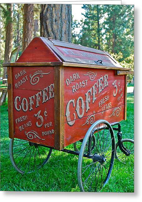Coffee Container Greeting Card