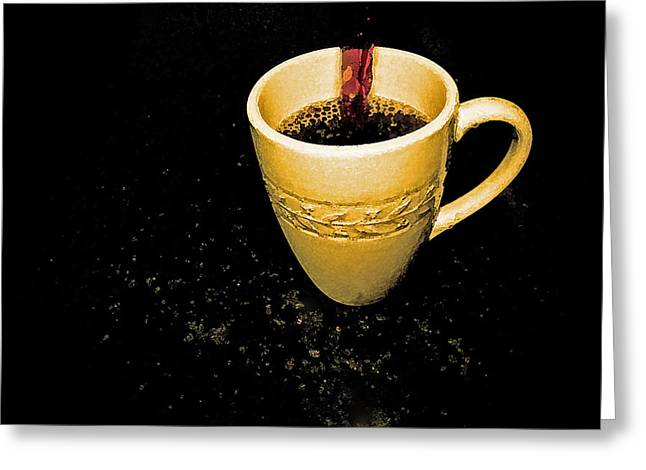 Coffee In The Big Yellow Cup Greeting Card