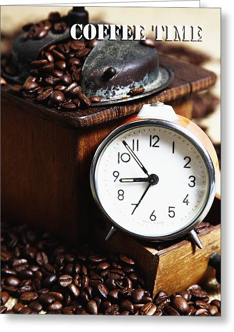 Coffee Time Greeting Card by Falko Follert