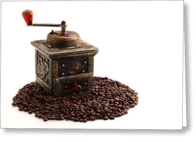 Coffee Greeting Card by Tom Gowanlock