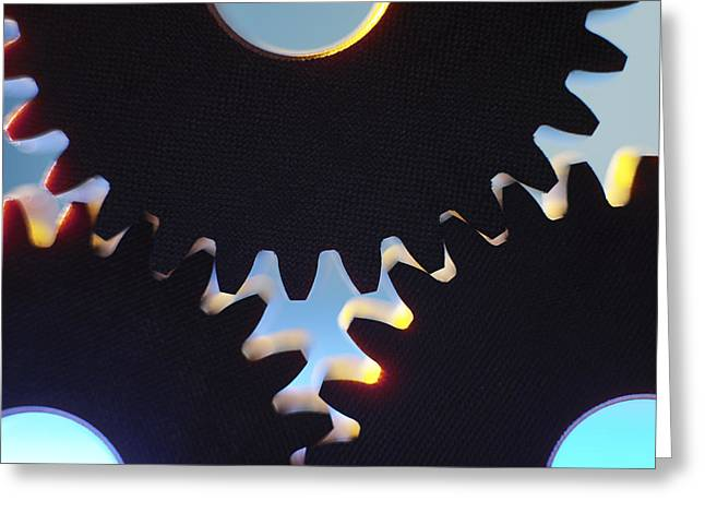 Cogs Greeting Card by Tek Image
