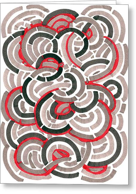 Coils Greeting Card by Jason Messinger