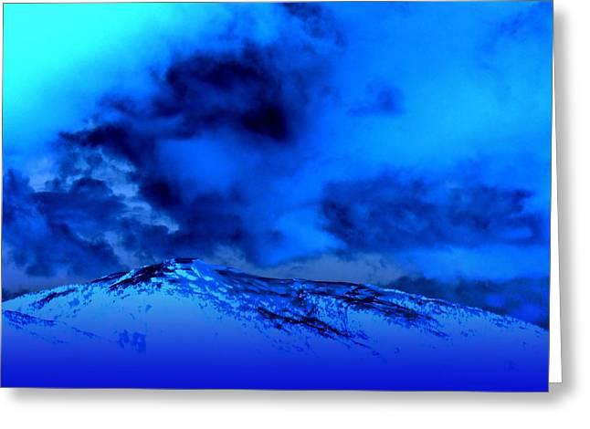 Cold And Blue Greeting Card by Randall Weidner