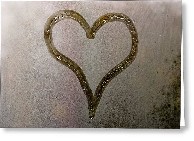 Cold Heart Greeting Card by Stelios Kleanthous