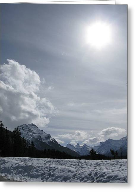 Greeting Card featuring the photograph Cold Mountains by Brian Sereda