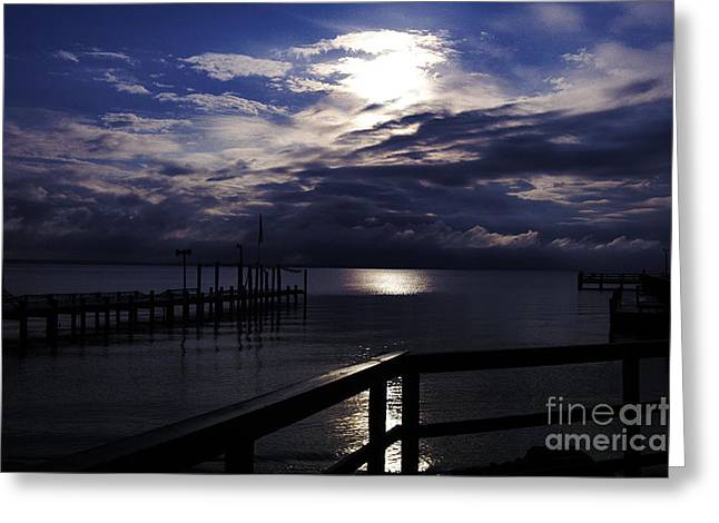 Greeting Card featuring the photograph Cold Night On The Water by Clayton Bruster