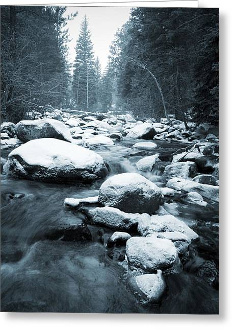 Cold Stream Greeting Card