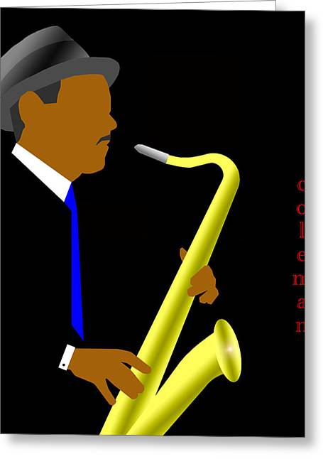 Coleman Hawkins Greeting Card by Victor Bailey