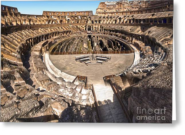 Coliseum Greeting Card by Gregory Dyer