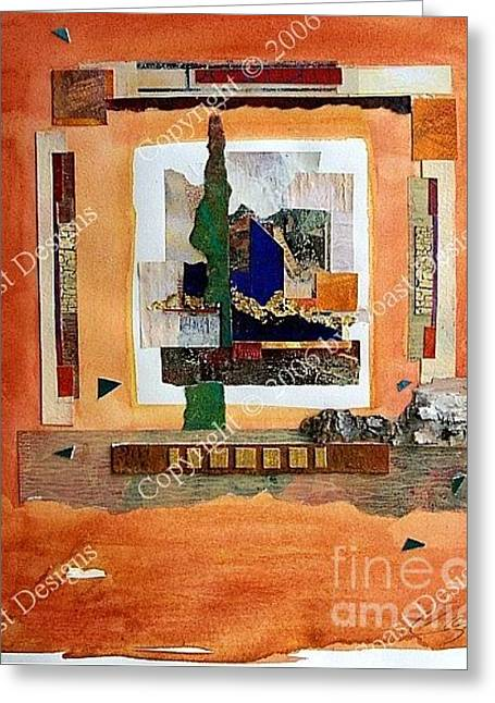 Collage 4 Greeting Card