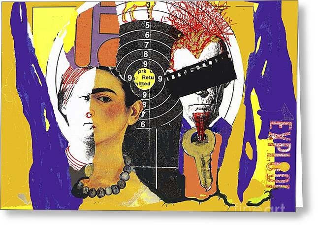 Collage Frida Greeting Card