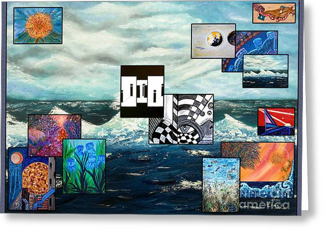 Collage Of Paintings Greeting Card