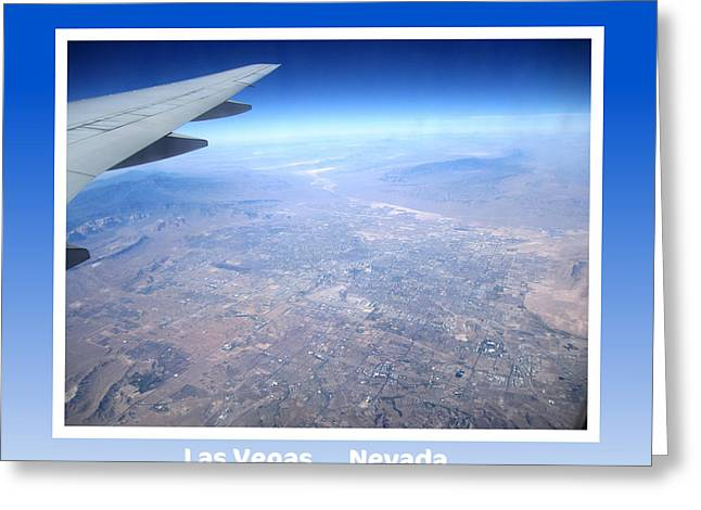 Collectible Art Print Photo Las Vegas Nevada From 35000 Ft Aerial View Greeting Card