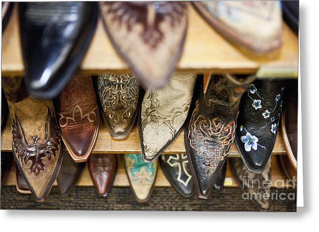 Collection Of Cowboy Boots Greeting Card by Bryan Mullennix