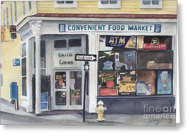 College Corner Original...sold Greeting Card