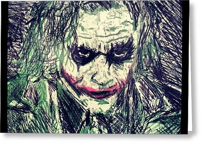 College Work 08' #joker #art Greeting Card