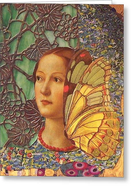 Collette Greeting Card by Kanchan Mahon