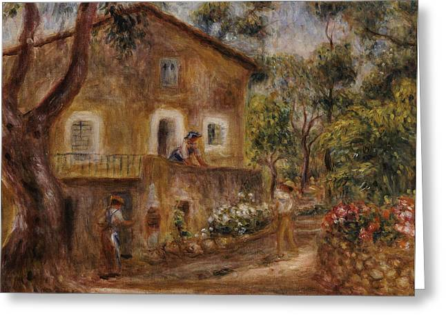 Collette's House At Cagne Greeting Card by Pierre Auguste Renoir